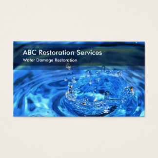 Home And Business Restoration Services Business Card
