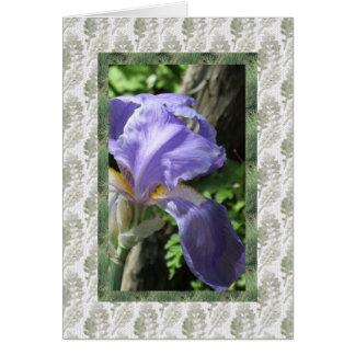 Home and Garden ~ Blue Iris Card