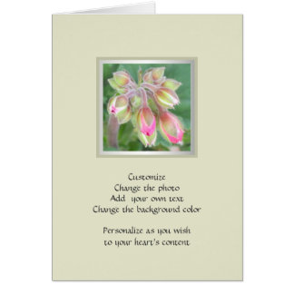 Home and Garden ~ Flowers ~ Pink Geranium Buds Card