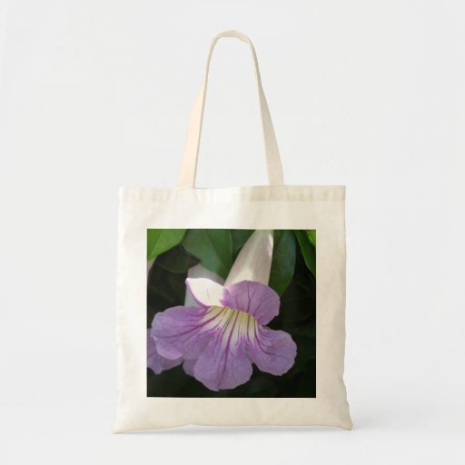 Home and Garden ~ Lavender Trumpet Vine Canvas Bags