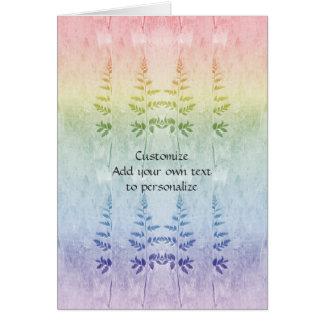 Home and Garden ~ Rainbow Fern Tips Card
