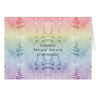 Home and Garden ~ Rainbow Fern Tips Card