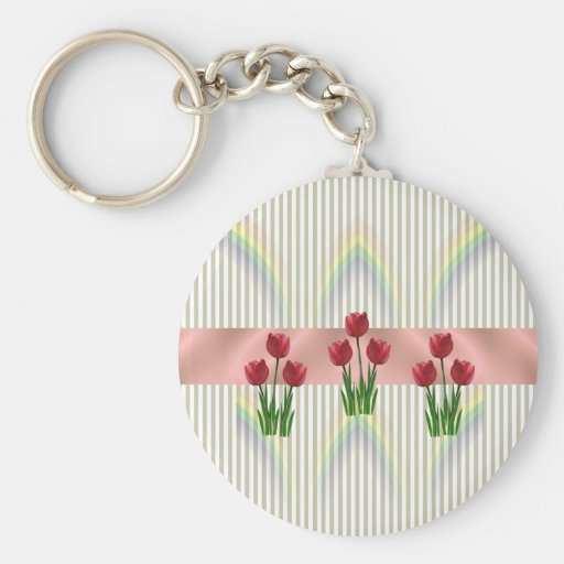 Home and Garden ~ Spring Tulips Keychains