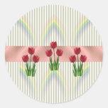 Home and Garden ~ Spring Tulips Round Sticker