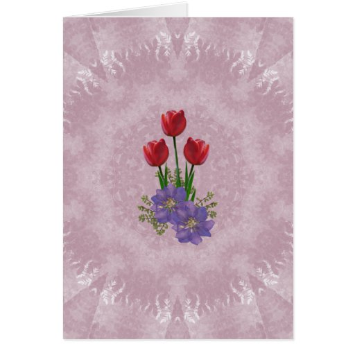 Home and Garden ~ Tulip Bouquet Greeting Card