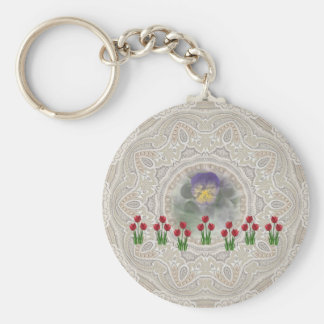 Home and Garden ~ Tulip Pansy Key Chain