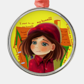 home and girl Ornament