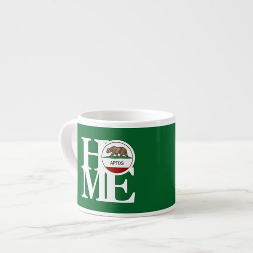 HOME Aptos Espresso Mug Green 6 Oz Ceramic Espresso Cup