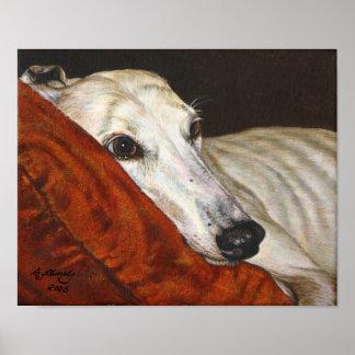 """Home At Last"" greyhound dog art poster"