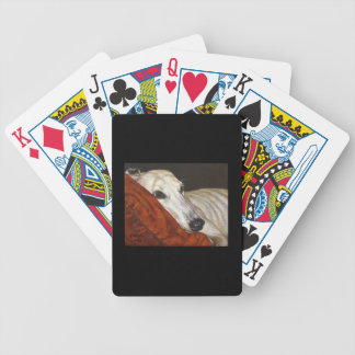 Home At Last Greyhound Dog Bicycle Playing Cards
