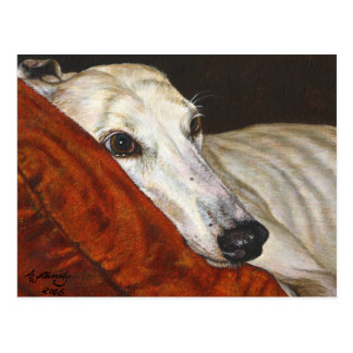 Home At Last Greyhound Dog Postcard