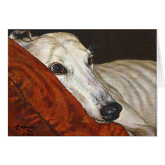 Home At Last Greyhound Rescue Dog Greeting Cards