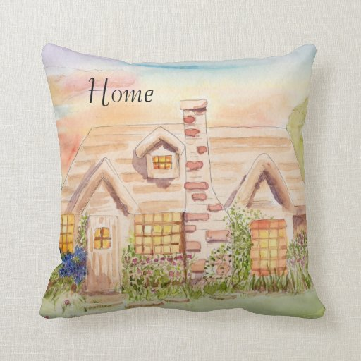 Home at Last Throw Pillow Zazzle