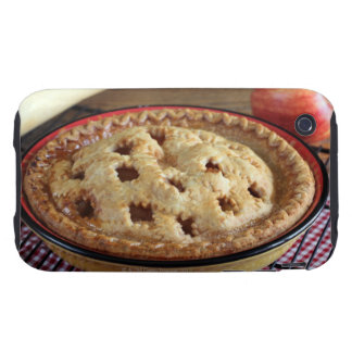 Home baked apple pie on cooling rack with apple tough iPhone 3 covers