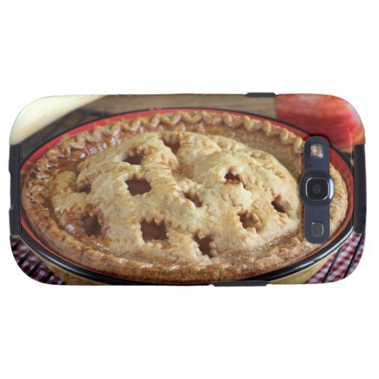 Home baked apple pie on cooling rack with apple samsung galaxy SIII case