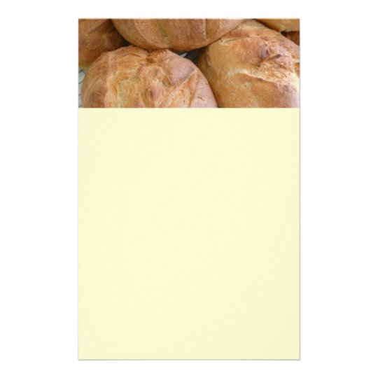 Home Baked Bread Loaves Stationery