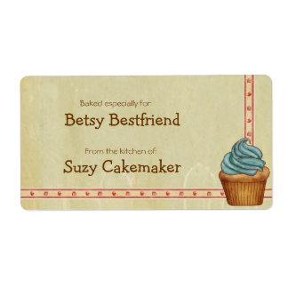 Home Baked Cupcakes Personalized Labels Shipping Labels