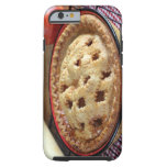 Home baked pie on cooling rack with iPhone 6 case