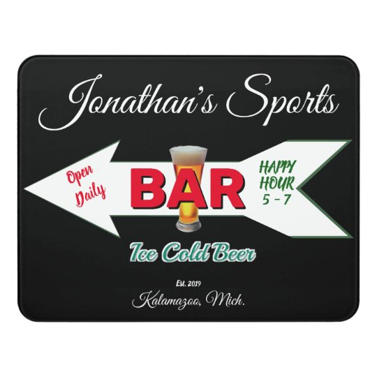 Home Bar Tavern Man Cave Cold Beer Acrylic Door Sign