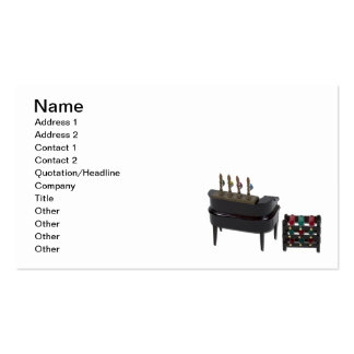 Home Bar with Wine Rack Double-Sided Standard Business Cards (Pack Of 100)