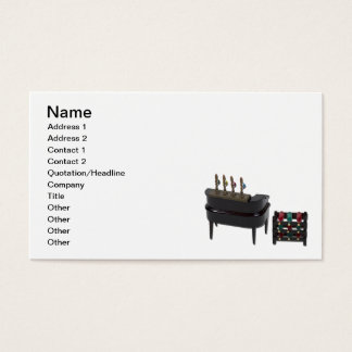 Home Bar with Wine Rack Business Card
