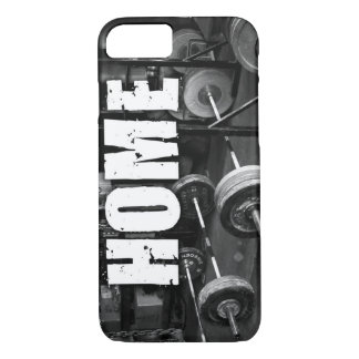 HOME (Barbells) - Workout Motivational iPhone 8/7 Case