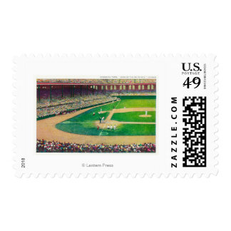 Home Base Bleachers View of Comiskey Park Postage