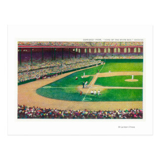 Home Base Bleachers View of Comiskey Park Postcard