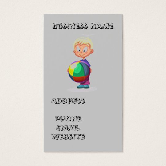 Home-Based Child Care Business Card