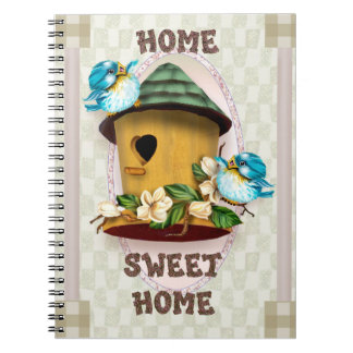 HOME BIRD SONGS Photo Notebook (80 Pages B&W)