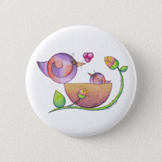 'Home' Birds Button Badge