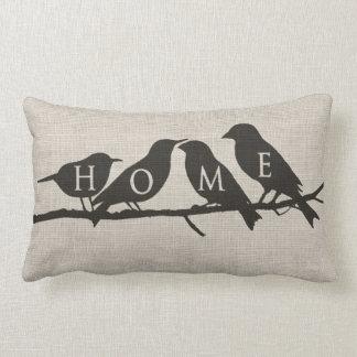 HOME Birds on a Limb Burlap Pillow