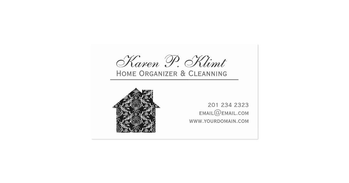 Home Black Lace Vintage Damask Interior Design Business Card Zazzle