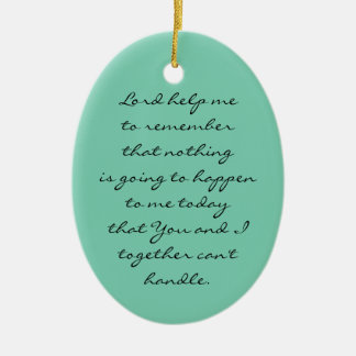 HOME BLESSING PLAQUE Double-Sided OVAL CERAMIC CHRISTMAS ORNAMENT
