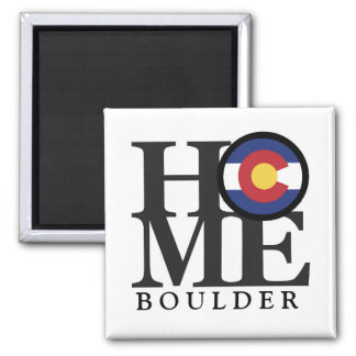 """HOME Boulder Colorado 4x4"""" Magnet"""