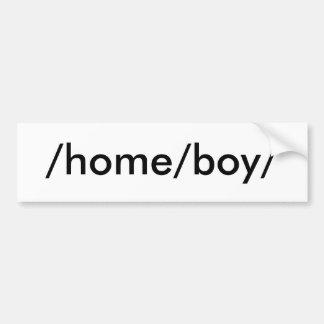 /home/boy/ pegatina de parachoque