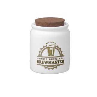 Home Brew Beer Brewmaster Candy Jar