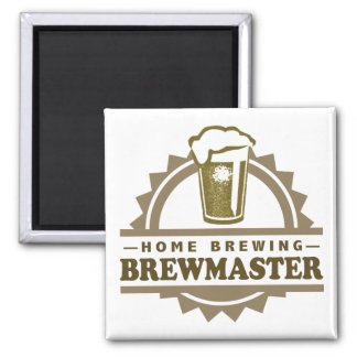 Home Brew Beer Brewmaster Refrigerator Magnets