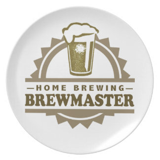 Home Brew Beer Brewmaster Party Plates