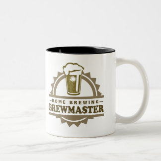 Home Brew Beer Brewmaster Two-Tone Coffee Mug