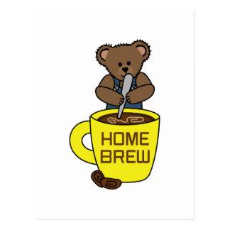 HOME BREW COFFEE POSTCARD