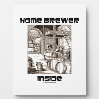 Home Brewer Inside (16th Century Woodcut Brewing) Photo Plaque