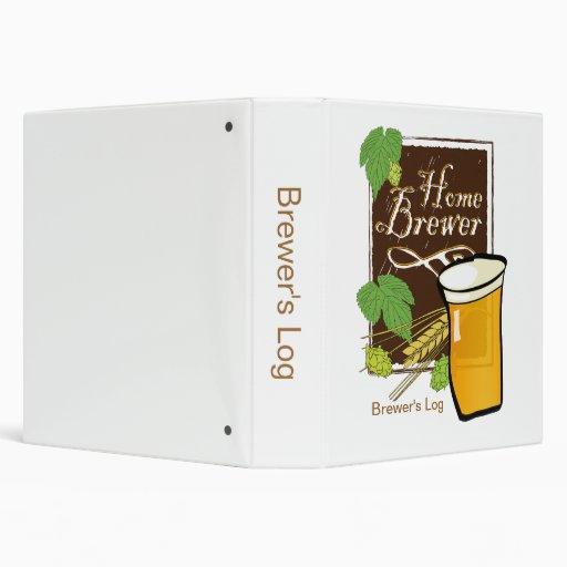 Home Brewer's Log Binder