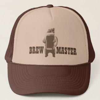 Home Brewing Brewmaster Beer Bear Trucker Hat
