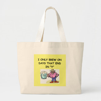 home brewing large tote bag