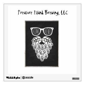Home Brewing: Treasure Island Brewing, LLC Wall Sticker