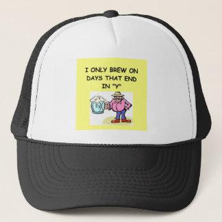 home brewing trucker hat