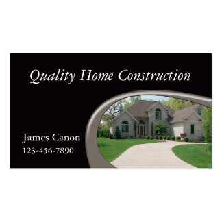 Home Builder Business Card Templates