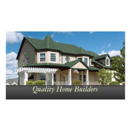 Home Builder Standard Business Card Zazzle