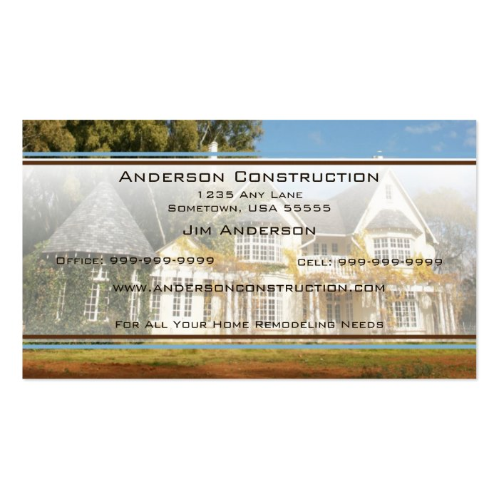 Home builders business card zazzle for Home builder business cards
